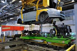 Ford Focus Electric Chassis Being Lowered Onto Electric
