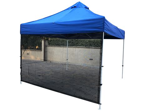 pop  tent sun shade screen panel wall full   black formosa covers formosa covers