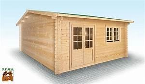 Chalet En Bois Habitable Livré Monté : chalet en bois en kit mod le hiba 25 m2 en madriers de 44 mm ~ Dailycaller-alerts.com Idées de Décoration