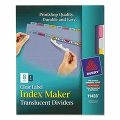 avery 11433 index maker print apply clear label plastic With label maker large letters