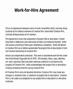 work release form sample 9 examples in word pdf With sample work for hire agreement template