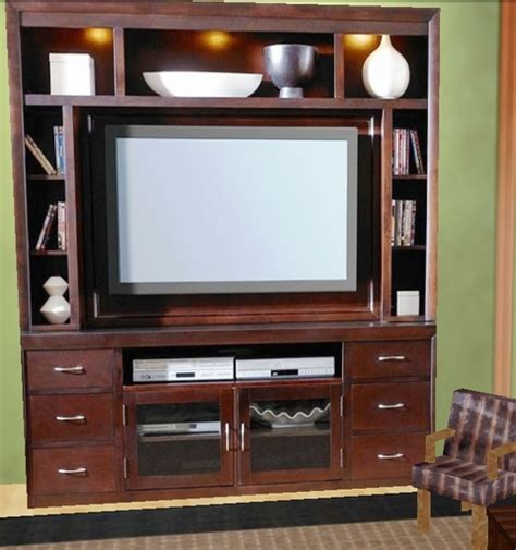 life marketplace dark wood tv stand  shelves