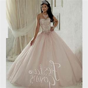 light pink and white quinceanera dresses Naf Dresses