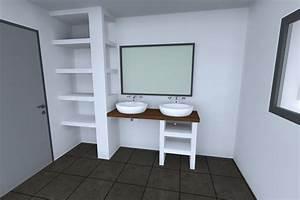 Etagere Dans La Douche : perspectives 3d r alis es par construireonline ~ Edinachiropracticcenter.com Idées de Décoration