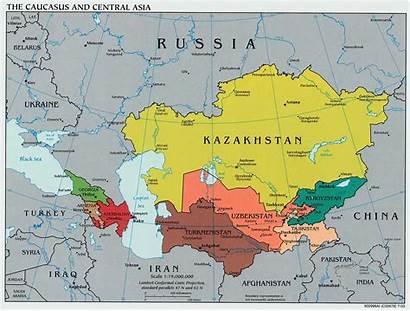 Asia Maps Central Kazakhstan Caucasus Map Russia