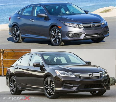 2016 Honda Civic Vs Accord Comparison