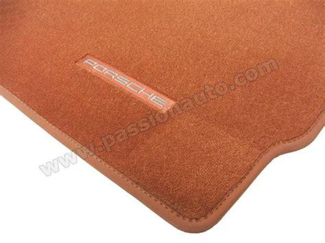 tapis de sol porsche terracotta 997 passionauto