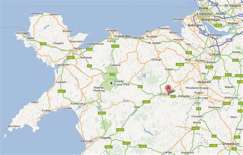 google map north wales uk