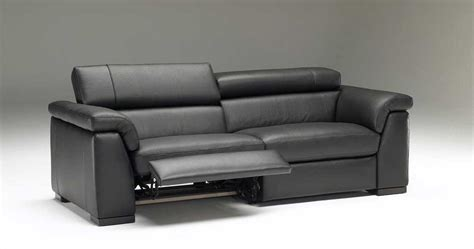 Contemporary Recliner Sofas by Popular Of Black Leather Reclining Sofa Grey Intended For