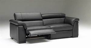 Grey leather reclining sofa sets photo gallery of the for 4085 modern leather sectional sofa with recliner