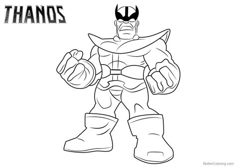 thanos coloring pages lineart  printable coloring pages