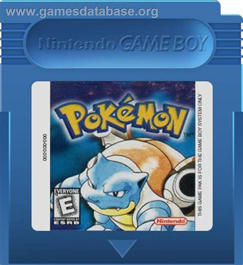Pokemon Blue Version Nintendo Game Boy Games Database