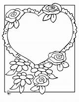 Coloring Flowers Bouquet Flower Heart Mom Colouring Roses Preschool Activities Bridal Bride Popular sketch template