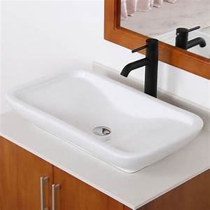 Elite ceramic bathroom sink with unique rectangle design for Sinks bathroom