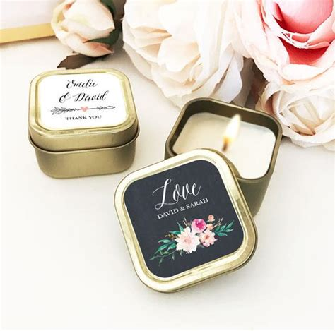 Gold Wedding Favors Custom Candle Wedding Favors Personalized