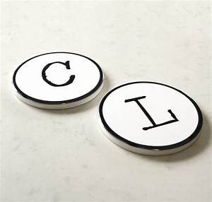 typewriter ceramic style letter and number coasters by With ceramic letter coasters
