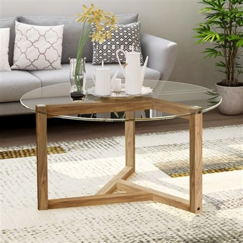 From the many sizes, designs, and locations that you can use them, these tables will not only enhance the look of any living room, but can also complete the room itself. TREXM Round Glass Coffee Table Modern Cocktail Table Easy ...