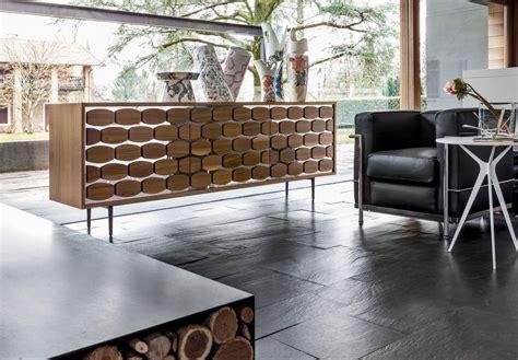 credenze design credenza in legno con decoro alveare per soggiorno