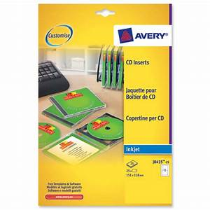 avery j8435 inkjet cd cover and tray in one ref j8435 25 With cd labels and inserts