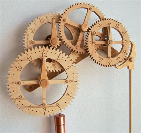 wooden gear clock plans  hawaii  clayton boyer