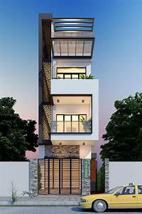 Townhouse, Plans, Narrow, Lot, 4, 5x17, 2, Meter