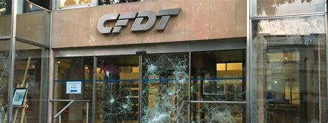 info francetv info le siège de la cfdt vandalisé à