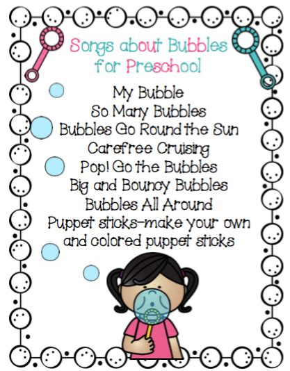songs about bubbles for preschool preschool printables 725 | 11