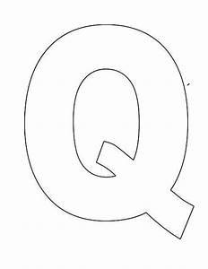 printable letter q template alphabet letter q templates With alphabet letter templates for teachers