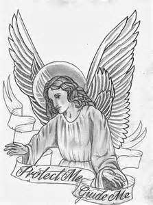 Religious Angel Tattoo Designs Drawings