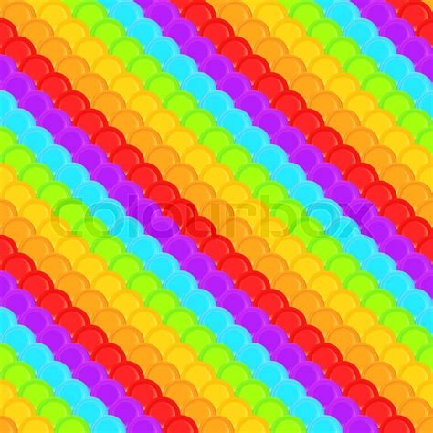 rainbow colored squama scale seamless background pattern