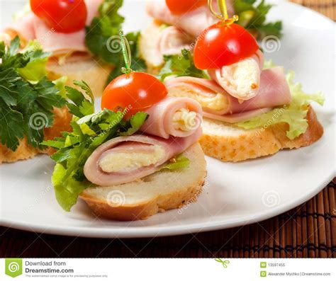 m and s canapes ham canape stock image image of cuisine canape