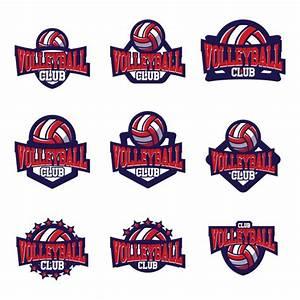 volleyball logo templates design vector free download With volleyball logo design templates