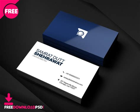 creative business card template freedownloadpsdcom