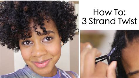 How To Do Twist Hairstyles by How To 3 Strand Twist On Hair