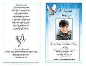 paper for funeral programs funeral program template celestial dove