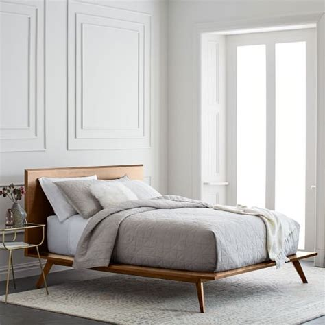 Midcentury Platform Bed  Walnut  West Elm. Grey Tufted Couch. Plug In Overhead Light. White Distressed Coffee Table. What Color To Paint Bedroom. Norfolk Kitchen And Bath. Wood Pendant Light. Elegant Curtains. Modern Tiles