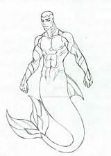 Merman Pages Coloring Kaldur Deviantart Template Young Drawings Sketch Justice Aqualad Templates Random Cartoons sketch template