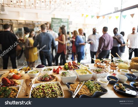 Buffet Dinner Dining Food Celebration Party Stock Photo