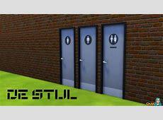 De Stijl Toilet Doors #9 SNW SimsNetworkcom