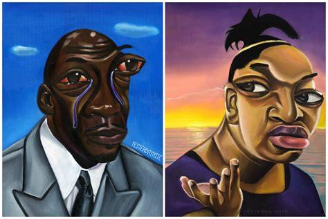 Painter Alim Smith Celebrates Classic Black Twitter Memes