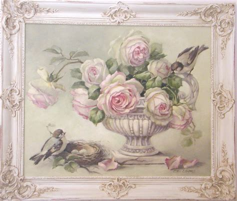 cuadro tris rose shabby sweet shabby chic painting by the best painter i seen renderings
