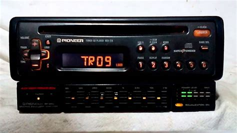 vintage pioneer deh 215 am fm cd player car stereo w bp 880 eq