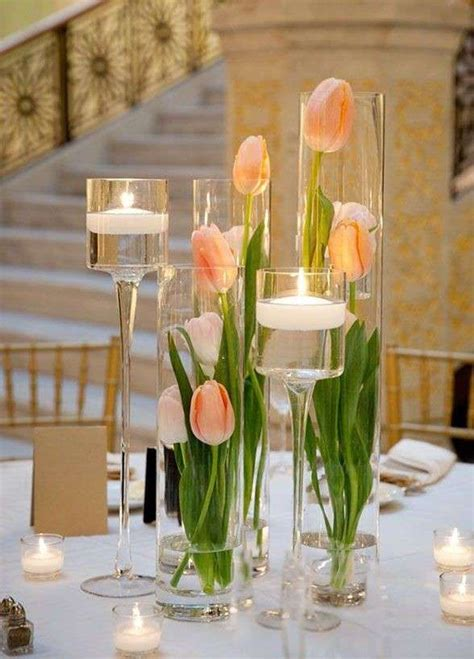 centro tavola centrotavola elegante fai da te matrimoni primaverili