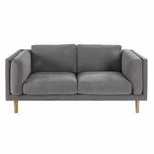 Sofa 2 Und 3 Sitzer : 2 3 sitzer sofa mit grauem baumwollbezug harper maisons du monde ~ Bigdaddyawards.com Haus und Dekorationen