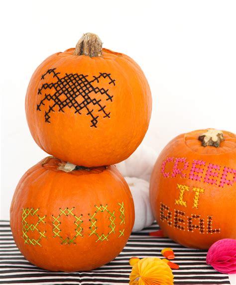 pumpkin re halloween diy cross stitch pumpkins design sponge