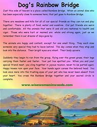 The Rainbow Bridge Memorial Poem For Loss Of Beloved Pet