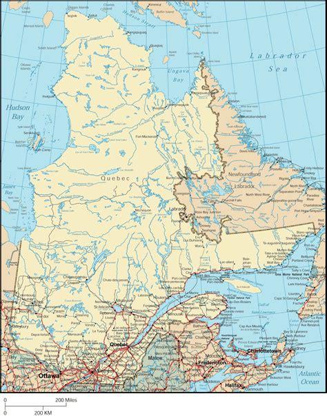 large quebec city maps     print high