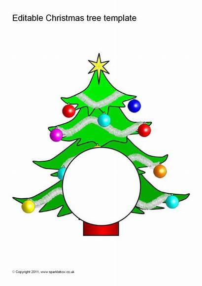 Numbers Christmas Tree Trees Template Editable Sparklebox