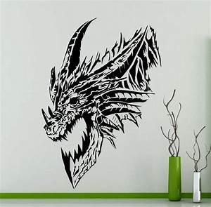 Dragons Drachen Namen : drachen kopf wand aufkleber monster tiere vinyl aufkleber auto etsy ~ Watch28wear.com Haus und Dekorationen