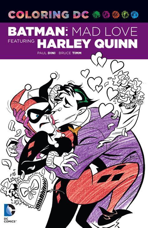 coloring dc harley quinn  batman adventures mad love